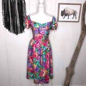 Vintage 80's Floral stranger things like dress